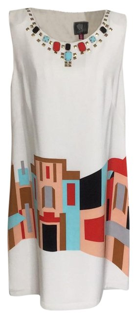 Item - Cream Mid-length Night Out Dress Size 12 (L)