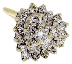 Other 14k gold 1 &2/3 carats diamond cluster ring