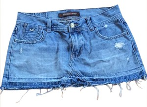 Hollister Mini Skirt Blue jean