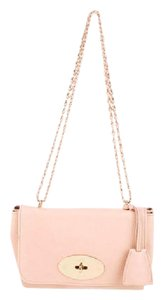 Mulberry Pink Leather Chain Mini Lilybag Cross Body Bag