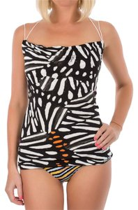 Just Cavalli Women Open & Muscle Tee Top Black & White