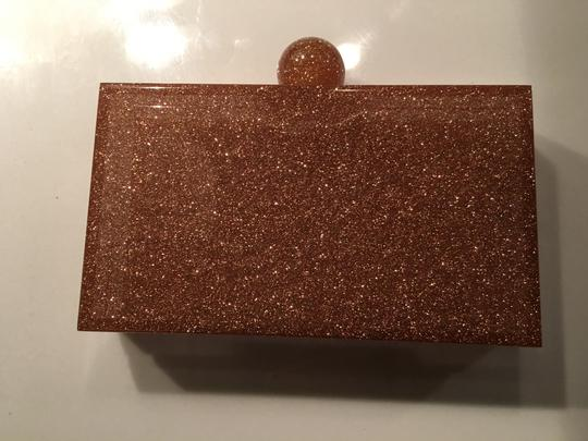 Charlotte Olympia Rose Gold Glitter & Clear Clutch Image 2