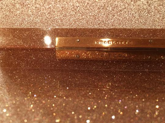 Charlotte Olympia Rose Gold Glitter & Clear Clutch Image 4