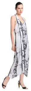 White/Grey/Black Maxi Dress by Helmut Lang