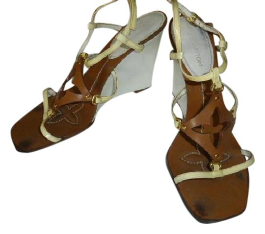 Preload https://img-static.tradesy.com/item/20872547/louis-vuitton-white-heel-lt-yellow-strap-brown-385-italy-wedges-size-us-85-regular-m-b-0-1-540-540.jpg