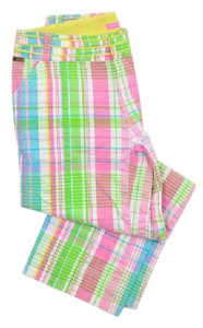 Lilly Pulitzer Seersucker Plaid Cropped Main Line Fit Capri/Cropped Pants