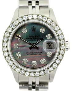 Rolex LADIES ROLEX DATEJUST S/S DIAMOND WATCH WITH ROLEX BOX AND APPRAISAL