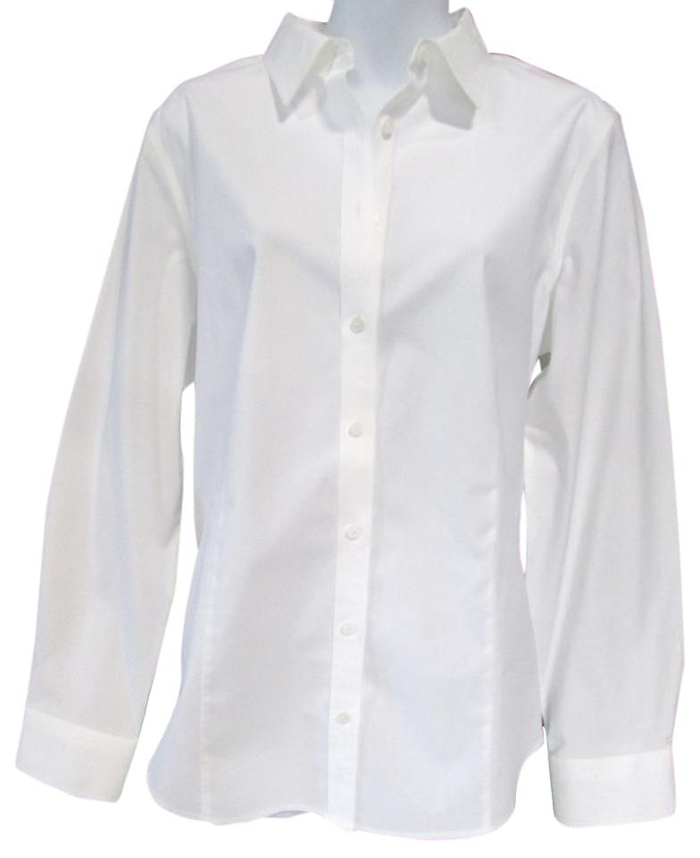 Talbots white wrinkle resistant womens shirt button down for Wrinkle free button down shirts