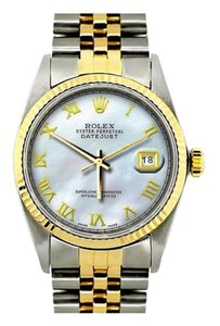Rolex 36MM ROLEX DATEJUST GOLD S/S DIAMOND WATCH