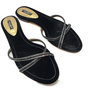 Dolce&Gabbana Sandals 40 Black Flats