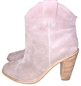 Joie Western Suede Gray Boots