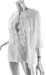 Givenchy Ruffles Pleated Easter Top White