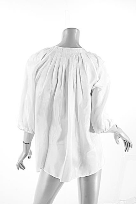 Givenchy Ruffles Pleated Easter Top White Image 1