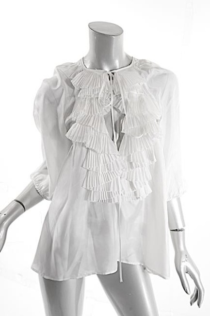 Givenchy Ruffles Pleated Easter Top White Image 2