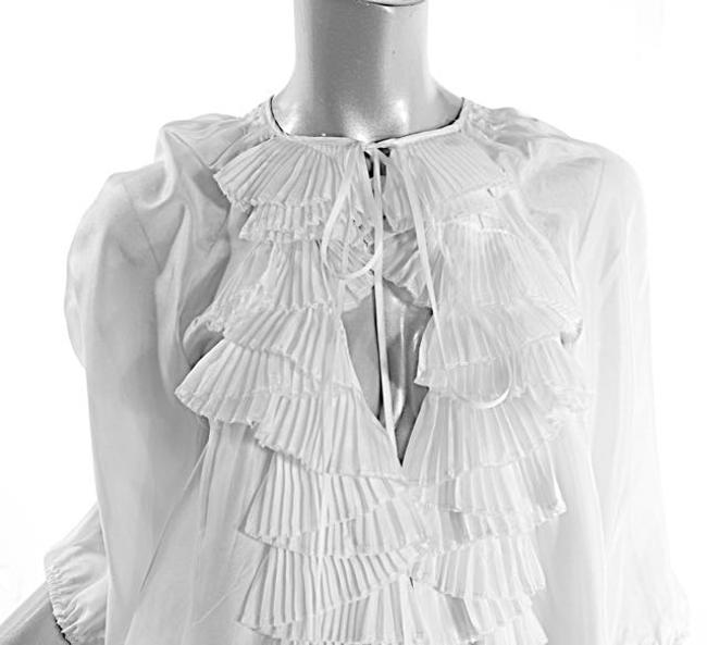 Givenchy Ruffles Pleated Easter Top White Image 5