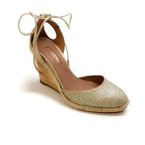 Aquazzura Glitter gold Wedges