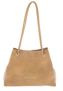 Gucci Calfskin Leather Gifford Tote in Brown
