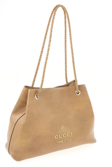 Gucci Calfskin Leather Gifford Tote in Brown Image 1