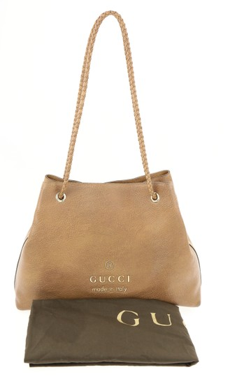 Gucci Calfskin Leather Gifford Tote in Brown Image 11