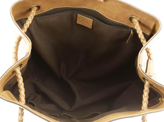Gucci Calfskin Leather Gifford Tote in Brown Image 5