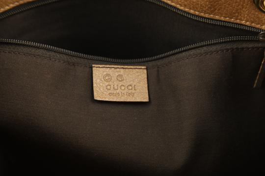 Gucci Calfskin Leather Gifford Tote in Brown Image 6