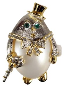 Kenneth Jay Lane Vintage KJL Kenneth J Lane Humpty Dumpty Pin Brooch