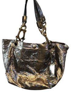 Jimmy Choo Tote in shiny silver