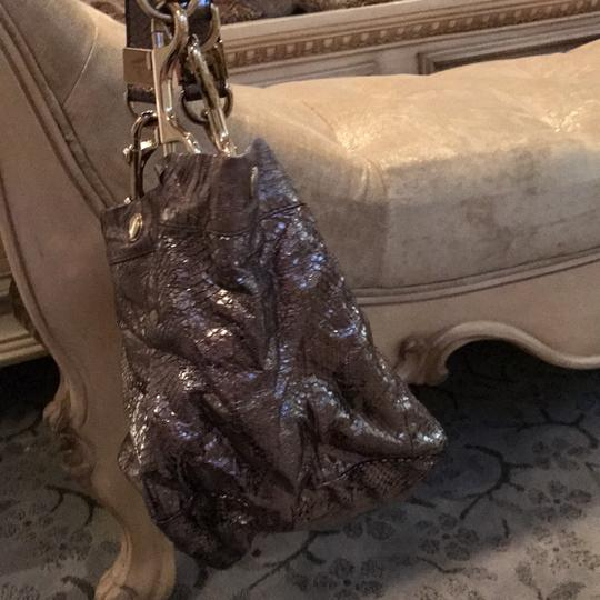 Jimmy Choo Tote in shiny silver Image 1