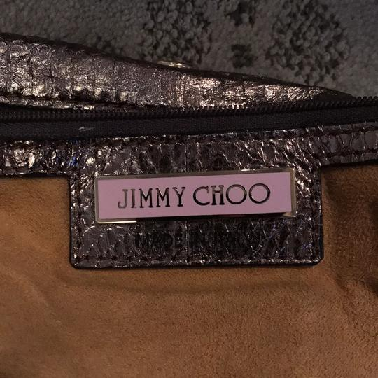 Jimmy Choo Tote in shiny silver Image 4