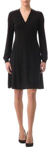 Joseph Ribkoff Faux Leather Fit And Flare Ribkoff Dress