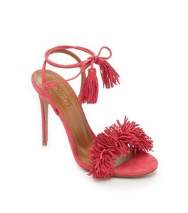 Aquazzura Fringe Tassels sorbet Formal