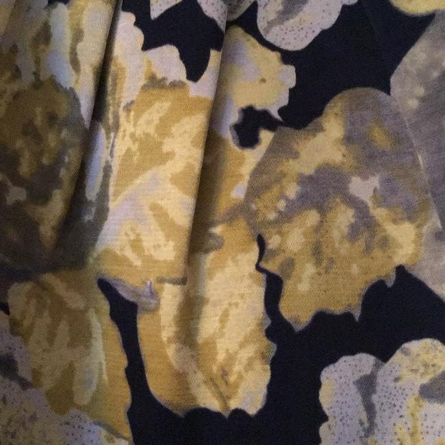 Beth Bowley Skirt black background with yellow/gold /gray Image 1