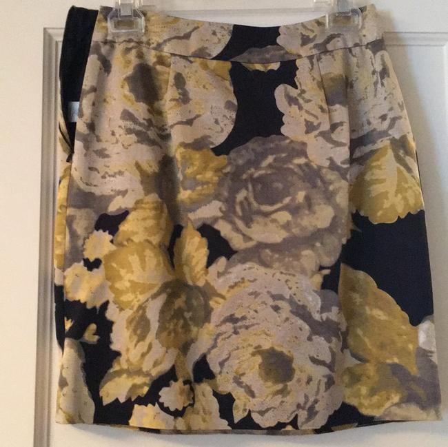 Beth Bowley Skirt black background with yellow/gold /gray Image 2