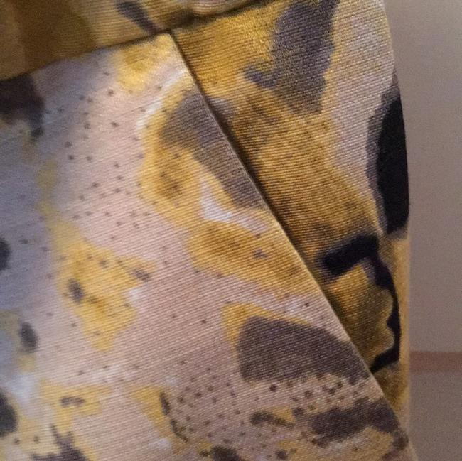 Beth Bowley Skirt black background with yellow/gold /gray Image 4