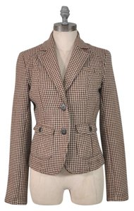 American Eagle Outfitters Houndstooth Brown And White Houndstooth Jacket Houndstooth Brown Blazer