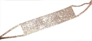 Other rose gold pave crystal choker