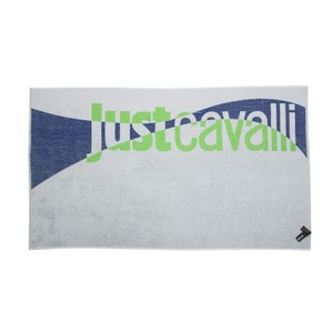 Just Cavalli Just Cavalli White & Green 100% Cotton Extra Large Beach Pool Towel