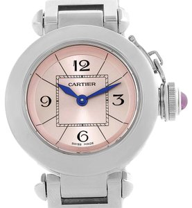 Cartier Cartier Miss Pasha Steel Pink Dial Quartz Ladies Watch W3140008