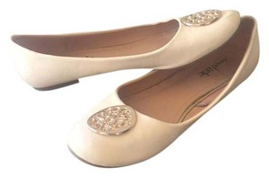 Charming Charlie Beige and Gold Flats