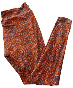 LuLaRoe New Swirls Orange Leggings