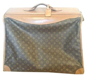 Louis Vuitton Classic Brown and Tan Travel Bag