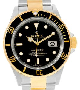Rolex Rolex Submariner Steel 18K Yellow Gold Mens Watch 16613 Box Papers