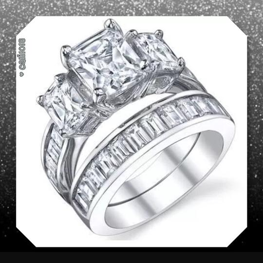 Other New 2pc Zircon White Gold Filled Ring Set Image 1