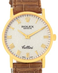 Rolex Rolex Cellini Classic 18K Yellow Gold Anniversary Dial Watch 5115