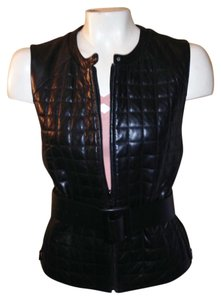 Siena Studio Quilted Leather Jacket Shell Top Vest