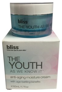 Bliss Bliss The Youth As We Know It ANTI AGING MOISTURE CREAM 1.7 oz-50 ml .