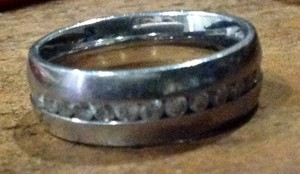 Sterling And Diamond Wedding Band