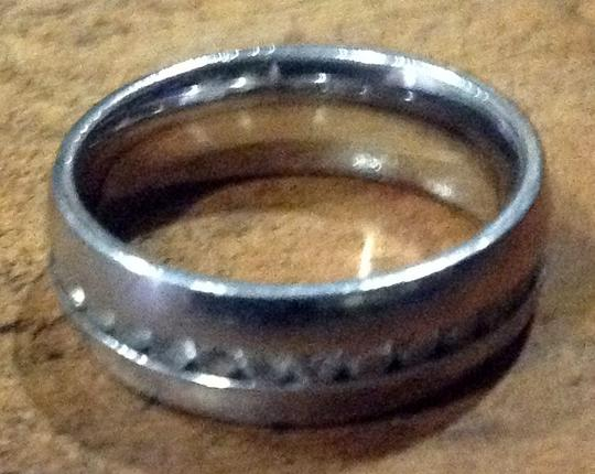 925 Sterling and Diamond Men's Wedding Band Image 1