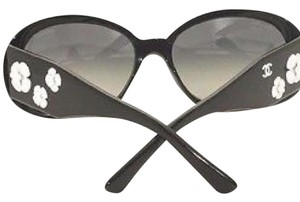 Chanel Chanel Camelia Black Sunglasses