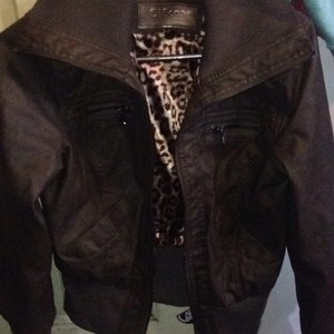 Other olive brow Leather Jacket